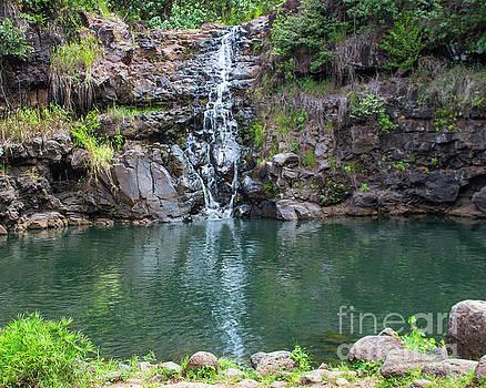 Waimea Waterfall horizontal by Cheryl Del Toro