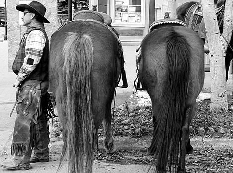 Cowboy Waiting by Fiona Kennard