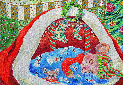 Waiting For Santa by Li Newton