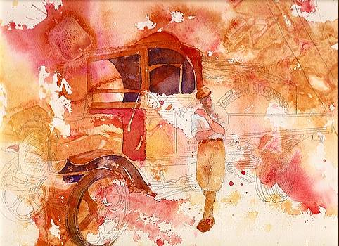 Waiting for the load by Wendy Hill