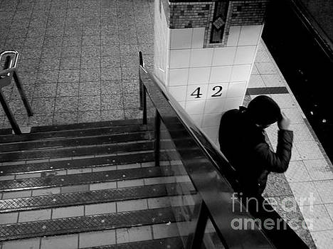 Waiting for the Train - Subways of New York by Miriam Danar