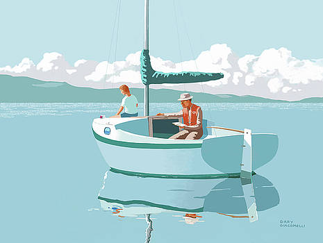 wAITING FOR THE WIND-THE CAL 20 by Gary Giacomelli