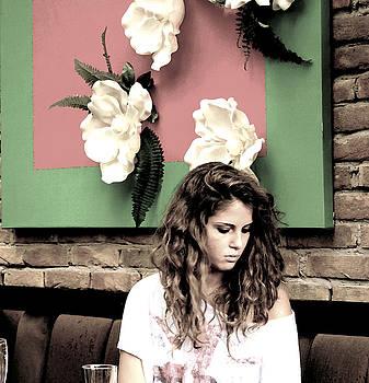 Waiting girl by Milan Mirkovic
