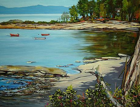 Waiting, Hornby Island, B. C. by Catherine Robertson