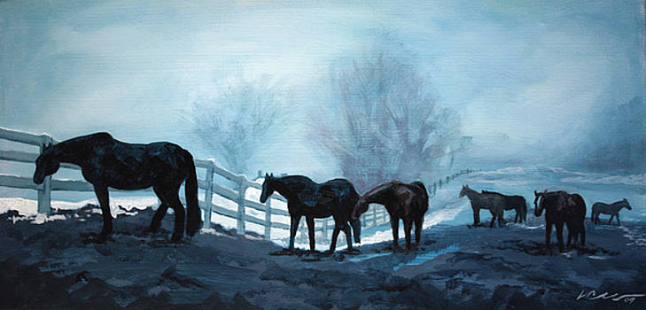 Waiting in the Fog by Linda Clearwater