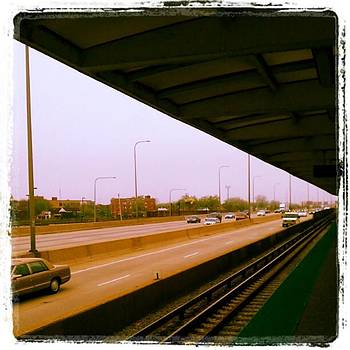 Waiting On A Downtown Train by Tammy Winand