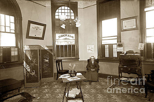 Waiting room of Dr. C. H. Pearce, D.D.S. dentist, Watsonville,  by California Views Mr Pat Hathaway Archives