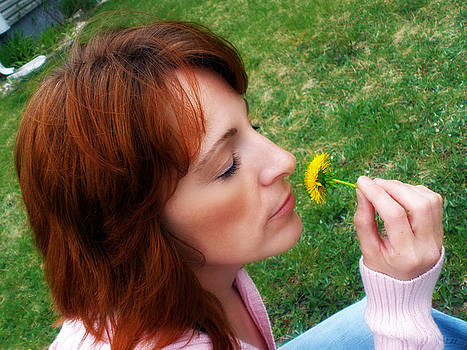 Wake up and smell the Dandelion by Kiersten Mitchell