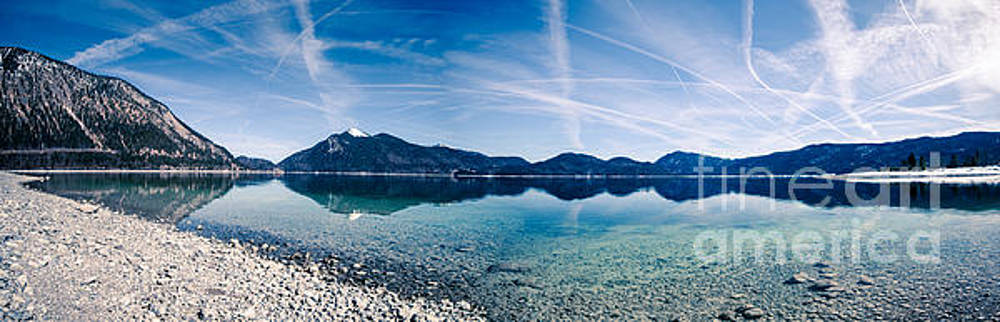Walchensee panorama by Hannes Cmarits
