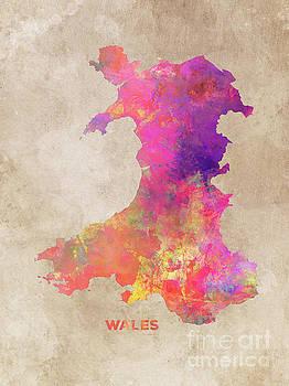 Justyna Jaszke JBJart - Wales map