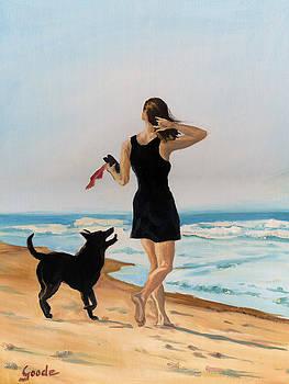 Walk on the beach by Jana Goode