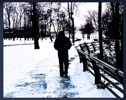 Walking Alone in Niagara Falls by Alex Spinello