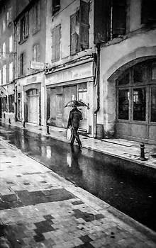 Walking Alone In The Rain by Elly De vries