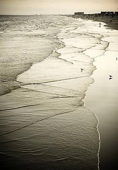 Marilyn Hunt - Walking Along the Beach at Sunrise