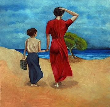 Walking at the beach after Pino by Kostas Koutsoukanidis