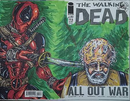 Walking Dead Deadpool Mash-up  by Michael Toth
