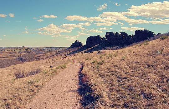 Walking Down - Devil's Backbone by Angie Tirado
