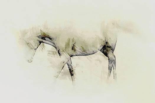Walking horse study by John Stuart Webbstock