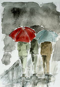 Walking In The Rain by Engin Yuksel