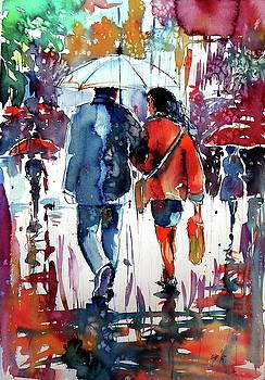 Walking in the rain by Kovacs Anna Brigitta