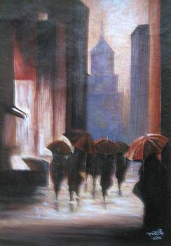 Walking in the rain by Usha Rai
