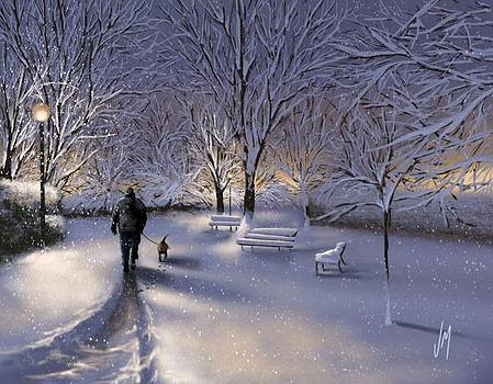 Walking in the snow by Veronica Minozzi