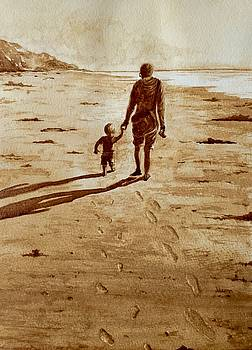 Walking on the Beach by Julee Nicklaus