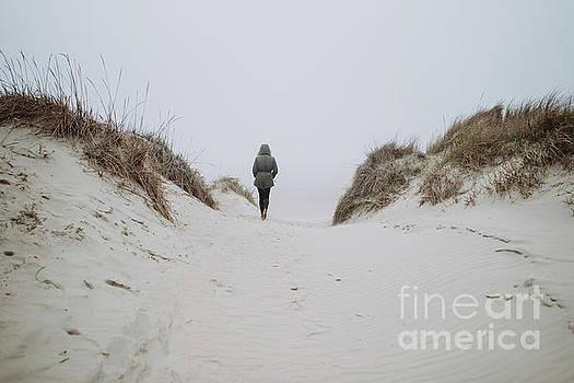 Walking on the winter beach by Viktor Pravdica