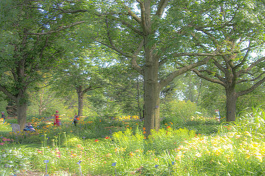Walking thru the Park by Kathy Paynter