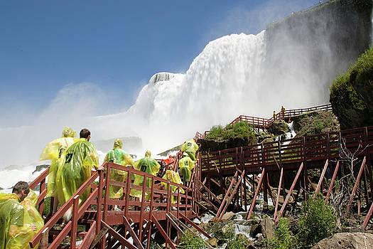 Walking up below Niagara Falls by Jeff Folger