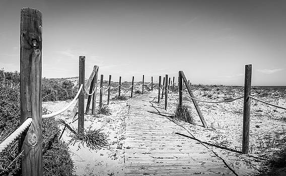 Walkway In The Dunes. by Gary Gillette