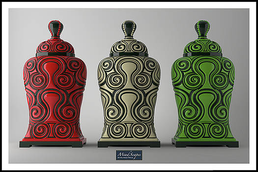 Wall Art Decor Vases by Alfred Price