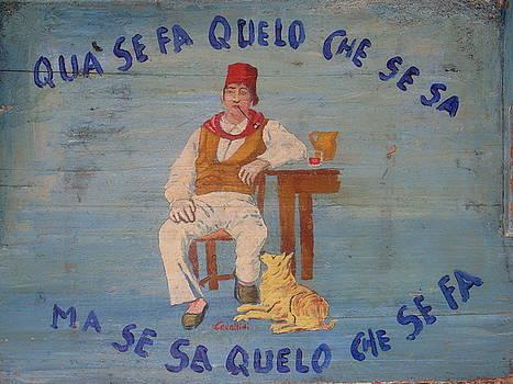 Wall art in Malcesine Lake Garda Italy by Inga Menn