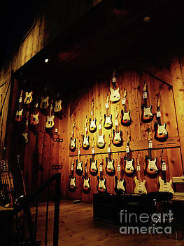 Wall of Guitars 1 - Guitar Center Hollywood by Gem S Visionary