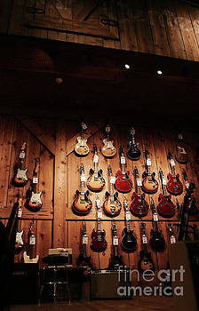 Wall of Guitars 2 - Guitar Center Hollywood by Gem S Visionary