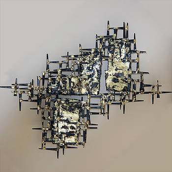 Wall Sculpture - Meteor Storm A by Buzz Leighton