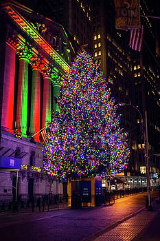 Wall St Tree at Night by Andrew Kazmierski