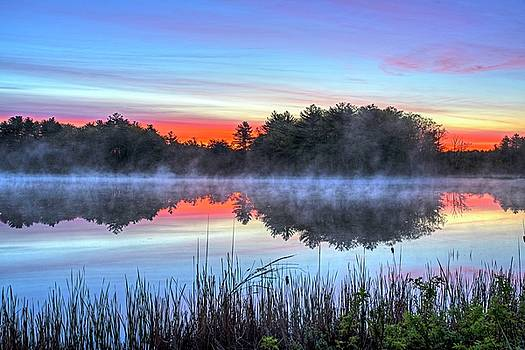 Wallis Sands Marsh Smoke on the Water Rye NH by Toby McGuire