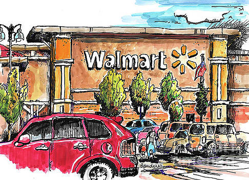 Walmart Sketching by Terry Banderas