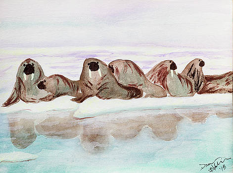 Walruses by Dean Italiano