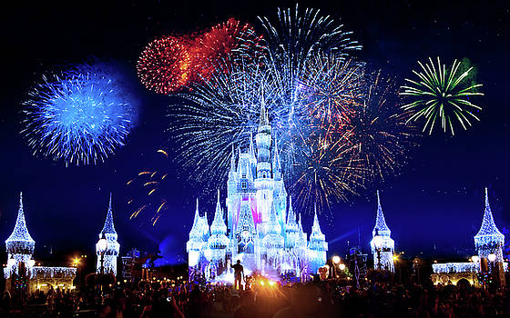 Walt Disney World Fireworks  by Mark Andrew Thomas