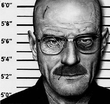 Walter White Mug Shot by Rick Fortson