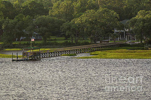 Wando River Dock and Home by Dale Powell