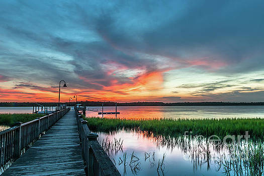 Wando River Sunset Burst by Dale Powell