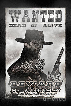 Wanted Poster Notorious Outlaw by Brad Allen Fine Art