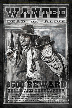 Wanted Poster The Notorious Couple by Brad Allen Fine Art
