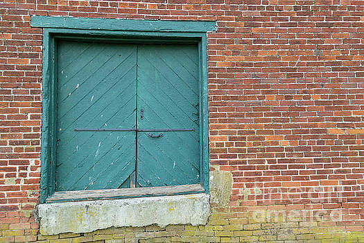 Warehouse Loading Door and Brick Wall by George Sheldon
