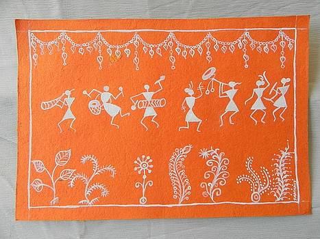 Warli oainting by Janhavi Firke