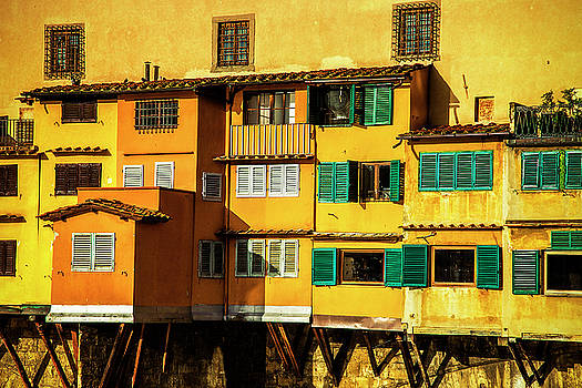 Warm Glow on the Ponte Vecchio by Andrew Soundarajan