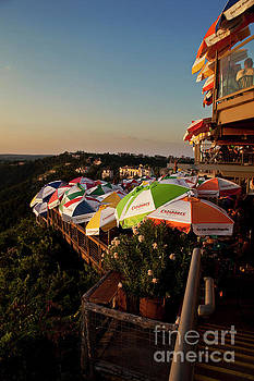 Herronstock Prints - Warm sunset falls on Lake Travis Restaurant